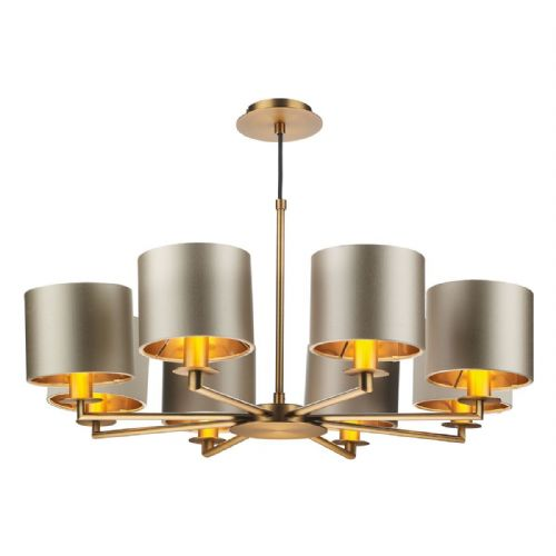 Rex 8Lt Pendant Bronze Complete with Shades REX0863 (Choose colour, Hand made, 10-14 day Delivery)